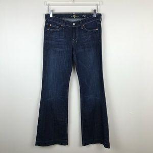 7 for All Mankind Dark Wash Dojo Wide Leg Jeans 26